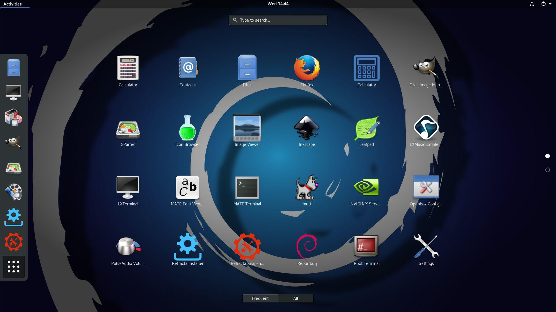DebEX Gnome (Debian Buster/Sid) – Build 171026 – with Gnome